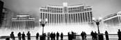Bellagio Resort And Casino Lit Up At Night, Las Vegas (black & white)