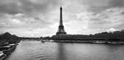 Eiffel Tower from Pont De Bir-Hakeim, Paris, France (black and white)
