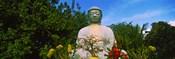 Low angle view of a Buddha statue, Lahaina Jodo Mission, Maui, Hawaii, USA