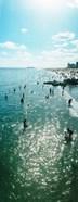 Tourists enjoying on the beach at Coney Island, Brooklyn, New York City, New York State, USA