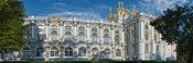 Facade of a palace, Catherine Palace, Tsarskoye Selo, St. Petersburg, Russia
