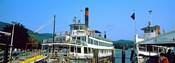 Minne Ha Ha Steamboat at dock, Lake George, New York State, USA