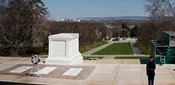 Tomb of a soldier in a cemetery, Arlington National Cemetery, Arlington, Virginia, USA