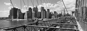 Traffic on Brooklyn Bridge, Manhattan