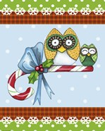 Candy Cane Owls Flag