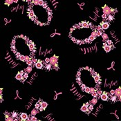 Pink Ribbon on Black Scatter