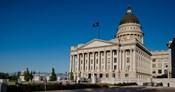 Facade of Utah State Capitol Building, Salt Lake City, Utah