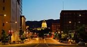 Utah State Capitol Building at Night, Salt Lake City, Utah