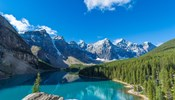 Moraine Lake at Banff National Park in the Canadian Rockies near Lake Louise, Alberta, Canada