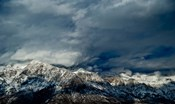 Clouds over the Wasatch Mountains, Utah, USA
