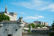 Low angle view of city walls, Pont Saint-Benezet, Rhone River, Avignon, Vaucluse, Provence-Alpes-Cote d'Azur, France
