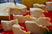 Cheese for sale at weekly market, Arles, Bouches-Du-Rhone, Provence-Alpes-Cote d'Azur, France