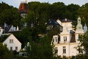 Villas on a hill, Blankenese, Hamburg, Germany