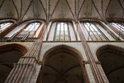 Interiors of a gothic church, St. Mary's Church, Lubeck, Schleswig-Holstein, Germany