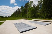 Bergen-Belsen WW2 Concentration Camp, site of destroyed concentration camp, Lower Saxony, Germany
