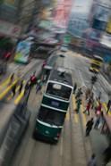Trams on a road, Hennessy Road, Wan Chai, Wan Chai District, Hong Kong