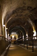 Pommery Champagne Winery passageway to ancient Gallo-Roman quarries, Reims, Marne, Champagne-Ardenne, France