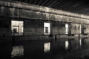 Interiors of World War Two-era Nazi submarine, Bordeaux, Gironde, Aquitaine, France