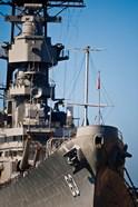 Close UP of USS Missouri, Pearl Harbor, Honolulu, Oahu, Hawaii