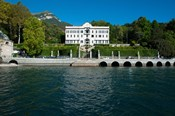 Villa at the waterfront, Villa Carlotta, Tremezzo, Lake Como, Lombardy, Italy
