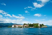 Isola Bella seen from ferry, Stresa, Lake Maggiore, Piedmont, Italy