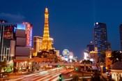 Casinos along the Las Vegas Boulevard at night, Las Vegas, Nevada, USA 2013