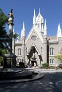 Facade of the Salt Lake Assembly Hall, Temple Square, Salt Lake City, Utah, USA