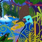 Cassowary In The Rainforest