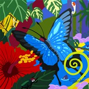 Tropical Blue Butterfly