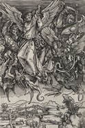 St. Michael Fighting the Dragon by Albrecht Durer, 1498