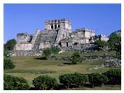 Ancient building ruins, El Castillo, Tulum Mayan