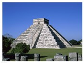 Old ruins of a pyramid,  Chichen Itza Mayan