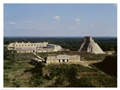 Pyramid of the Magician, Nunnery Quadrangle, Uxmal
