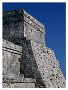 Wall of a building, El Castillo
