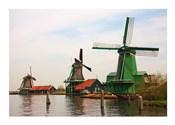 Dutch Zaanse Schans Windmills photograph