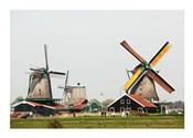 Dutch Zaanse Schans Windmills