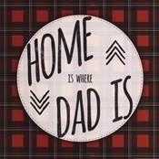 Home is Where Dad Is - red