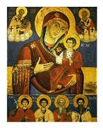 God's Mother Showing the Way with Chosen Saints