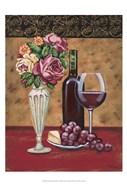 Vintage Flowers & Wine I