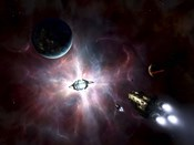An enormous stellar power and manufacturing station built around a star