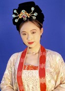 Chinese Woman in Tang Dynasty Dress, China