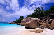 Beach, La Digue in the Seychelle Islands