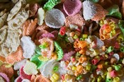 Colorful Crispy Rice Crackers as Sacrificial Offerings, Bumthang, Bhutan