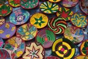 Ethiopia: Tigray, Axum, woven baskets, market