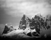 Antarctica, Mountain peaks along Cape Renaud in Lemaire Channel.