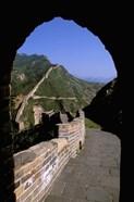 Great Wall of China Viewed through Doorway, Beijing, China