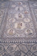 Abduction of Hylas Mosaic on Floor of an Ancient Roman Building, Morocco