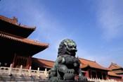 Bronze lion statue, , Forbidden City, China