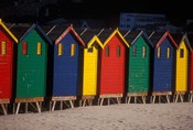 Colorful Bathing Boxes, South Africa