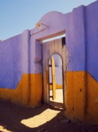 Courtyard Entrance in Nubian Village Across the Nile from Luxor, Egypt